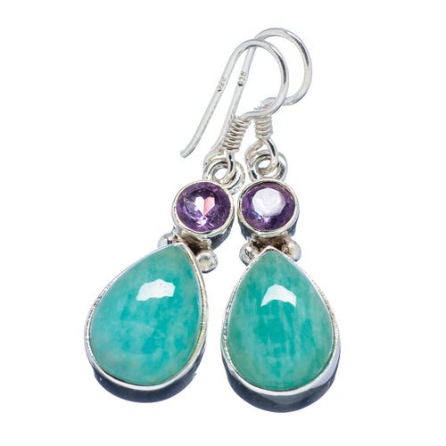 Amazonite Earrings with 4.5mm Faceted Amethyst Gemstones to awaken your Inner Warrior