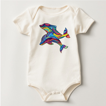 Load image into Gallery viewer, Dolphins American Apparel Bodysuit of Organic Cotton Jersey Knit Toddler Size 24