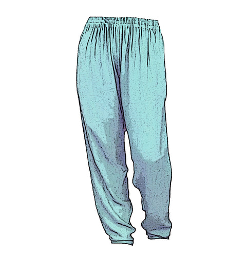 Tienda Ho Dusty Sage Green Cotton Rayon Moroccan Harem Pants
