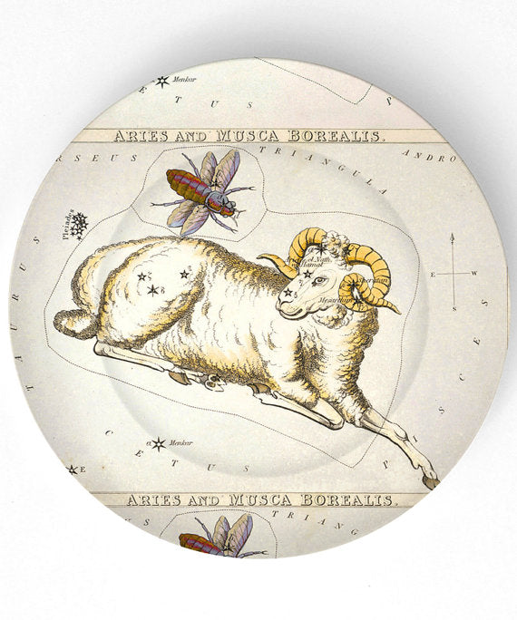 Zodiac Plate Astrological Signs Melamine Plate