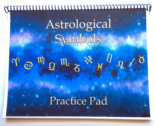 Astrological Symbols Practice Pad by Stephanie Jourdan, Ph.D.