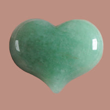 Load image into Gallery viewer, Green Aventurine Heart 1 inch wide for your pocket