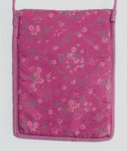 Load image into Gallery viewer, Tarot Deck Bag in Pink & Purple Cotton Gauze in Paisley