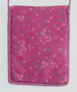 Tarot Deck Bag in Pink & Purple Cotton Gauze in Paisley