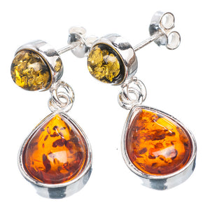Baltic Amber Earrings in Yellow and Honey Genuine Amber