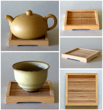 Load image into Gallery viewer, Bamboo Square Coaster 4 inch Square