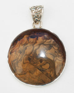Biggs Jasper Pendant in Sterling Silver Setting