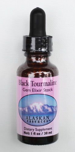 Black Tourmaline Gem Elixir 1 oz size  from Alaskan Essences