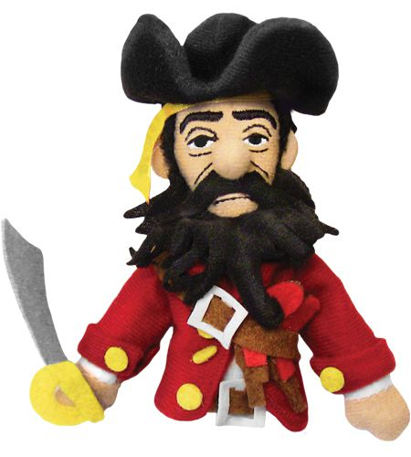 Blackbeard the Pirate Finger Puppet and Fridge Magnet - Retired Collectible