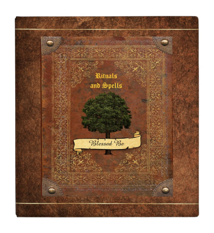 Blessed Be Wiccan Rituals and Spells Book of Shadows 1.4 inch Binder