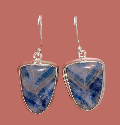 Blue Scheelite Earrings from Turkey