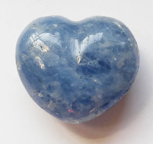 Blue Calcite Mini Puffy Heart for Easier Detox - Put in your Bath or Foot Bath!