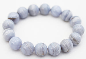 Blue Lace Agate Bracelet - put the stone of miracles around your wrist!
