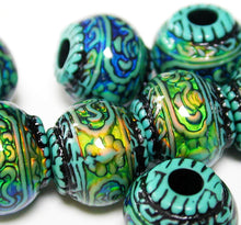 Load image into Gallery viewer, Blue Mystique Strand of Ten Mirage Beads