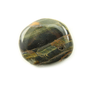 Hawks Eye or Blue Tigers Eye Smooth Stone