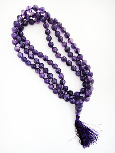 Brazilian Amethyst Mala 6.5mm Prayer Beads