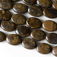 Load image into Gallery viewer, Bronzite beads 10x14 mm puffy oval beads