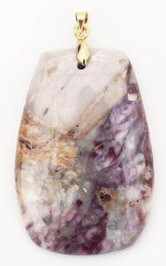 Butterfly Jasper Pendant in a Barrel-Shape