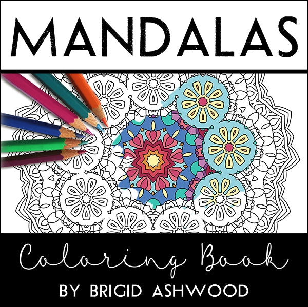 Mandalas Coloring Book and Tin of Stabilo Set of 12 Chalk-Pastel Pencils