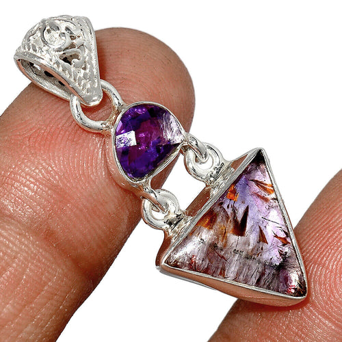 Super Seven Pendant with an Amethyst Gemstone