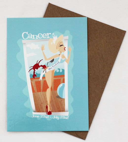 Cancer Sign Jetson's Style Zodiac Post Card