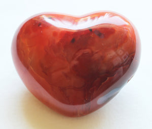 Carnelian Puffy Heart medium size for courage, self-esteem and passion!