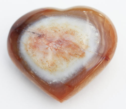 Carnelian Puffy Heart 84.5mm or 3.3 inches - hefty crystal heart
