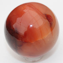 Load image into Gallery viewer, Carnelian Agate Sphere for courage and happiness!  64mm