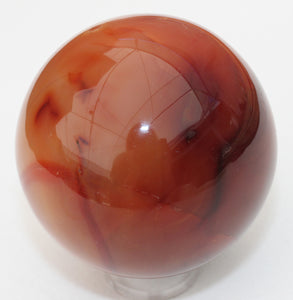 Carnelian Agate Sphere for courage and happiness!  64mm