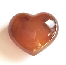 Load image into Gallery viewer, Carnelian Puffy Heart for happiness.  Extra small 31mm wide.