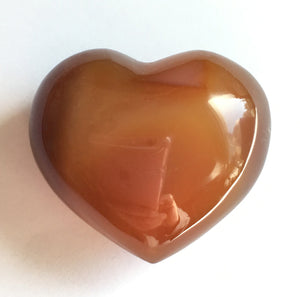 Carnelian Puffy Heart for happiness.  Extra small 31mm wide.
