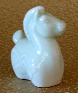 Chinese Zodiac Celadon Porcelain Figurine - Year of the Horse