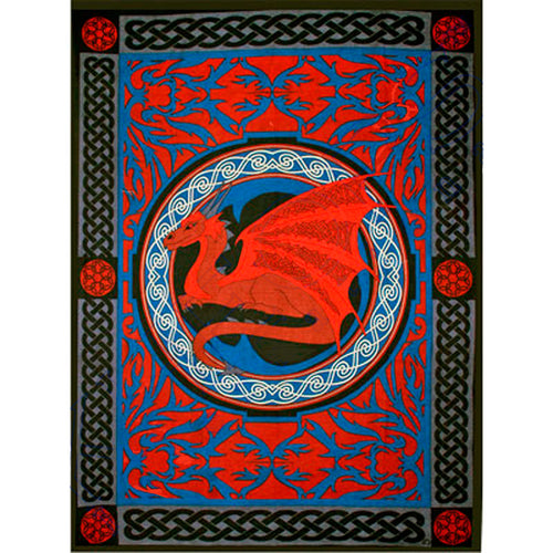 Celtic Dragon Tapestry Twin Size