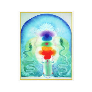 Chakra Canvas Art 11 by 14 Kundalini Art Print Giclee