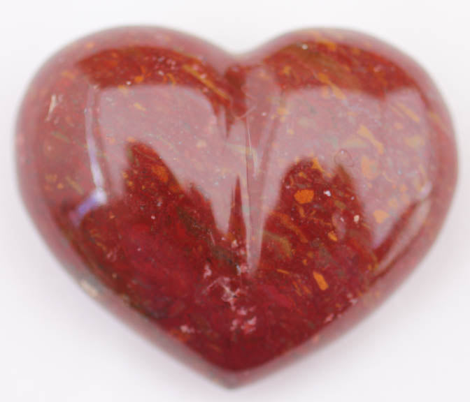 Red Jasper Heart - Chestnut Jasper puffy heart