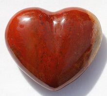 Load image into Gallery viewer, Red Jasper Heart - Chestnut Jasper puffy heart
