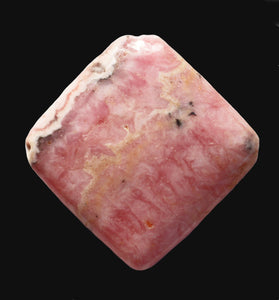 Rhodochrosite Bead from Argentina in a puffy shape with pretty patterning