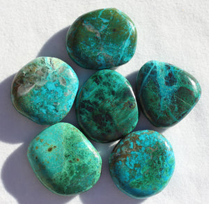 Chrysocolla Palm Stone for Help from Fairy Kingdom
