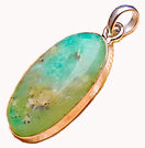 Chrysoprase Pendant set in Sterling Silver