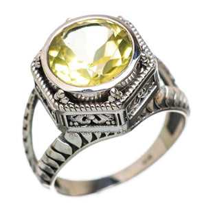 Citrine ring size 8 sterling silver Filigree Retro Period reproduction