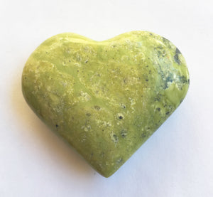 Lemon Serpentine Heart 2.25""