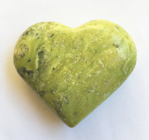 Lemon Serpentine Heart 2.25 inches wide