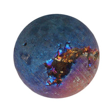 Load image into Gallery viewer, Cobalt Aura Quartz Crystal 30mm Sphere with Druzy