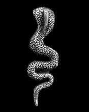 Load image into Gallery viewer, Cobra Charm Silver Plated Brass Pendant