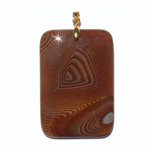 Chocolate Brown Onyx Pendant with gold plated silver bail
