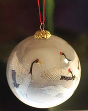 Load image into Gallery viewer, Heron Ornament Painted with 2-Hair Brush in Reverse