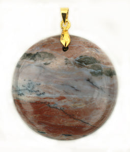 Dendrite Agate Pendant with 14k Gold-Plated Bail for strong nerves.