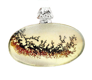 Dendritic Agate Pendant set in Sterling Silver