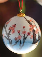 Load image into Gallery viewer, Dove Christmas Ornament painted in Reverse on Inside