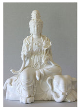 Load image into Gallery viewer, Primordial Buddha on Elephant Porcelain Figurine